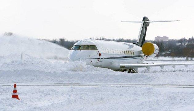 Через заметіль частину рейсів заеропорту Київ перенесено уБориспіль