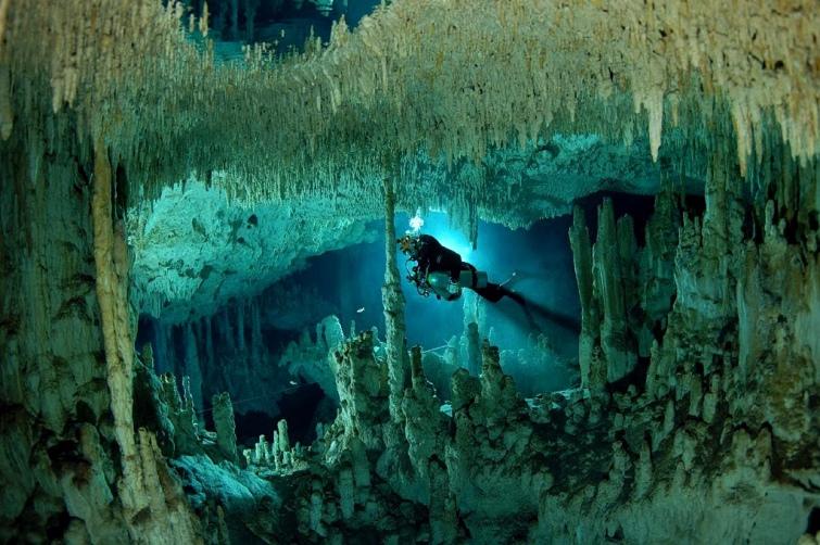 Дайвери знайшли величезну печеру і реліквії майя вМексиці