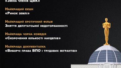 """Photo of """"Опора"""" назвала лауреатів українського """"політичного Оскара"""""""