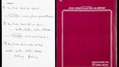 Photo of Рукопис популярної пісні The Beatles продали на аукціоні за понад 900 тисяч доларів