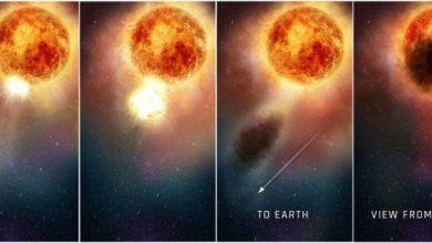 Photo of Астрономи зафіксували гігантський вибух на зірці Бетельгейзе