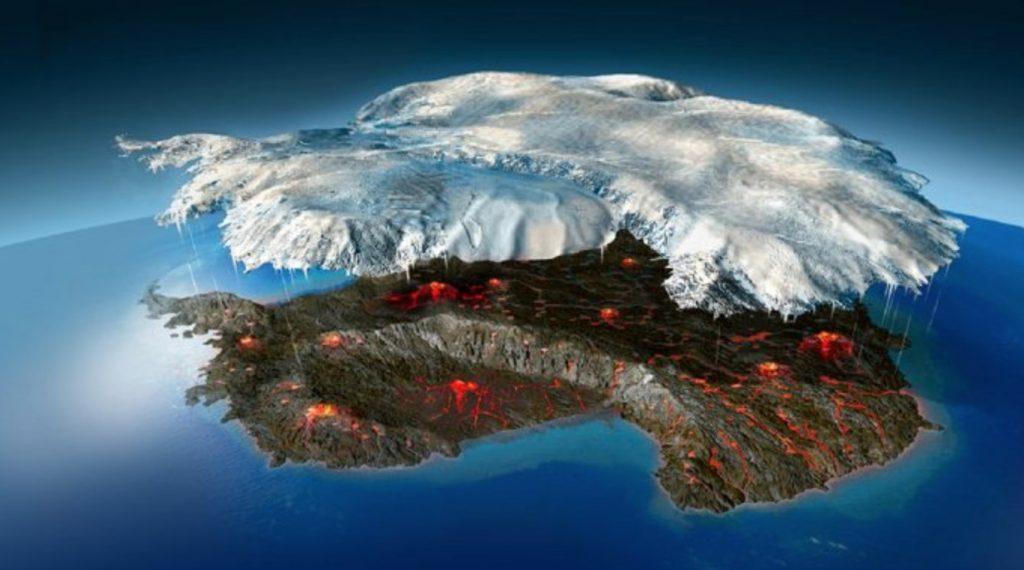 Вулкани під льодом Антарктиди несуть глобальну загрозу людству